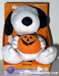 Snoopy with pumpkin touch-activated Musical Plush