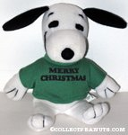 Snoopy wearing 'Merry Christmas' t-shirt Plush