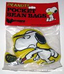 Snoopy playing Tennis Pocket Bean Bag