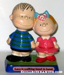 Linus & Sally 'Love is walking hand in hand' Figurine