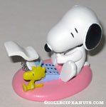 Snoopy and Woodstock with typewriter spring figurine