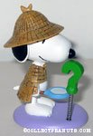 Detective Snoopy with question mark spring figurine