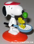 Snoopy playing tennis spring figurine