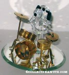 Snoopy playing drum set Crystal Figure