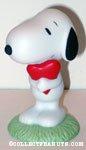 Snoopy hugging Heart Figurine