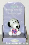 Snoopy with present 'birthday girl' Figurine