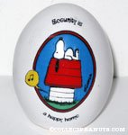 Snoopy on Doghouse 'Security is a happy home' Egg Figurine