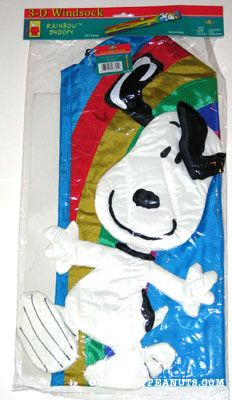 Peanuts Snoopy Skydiver Spring Windsock Decoration 46694