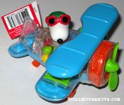Flying Ace in Blue Bi-plane Candy Container