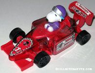 Snoopy driving red racecar Candy Container