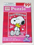 Snoopy hugging Woodstock 'Be my Valentine' Puzzle