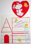 Snoopy and Woodstock on Valentine's doghouse