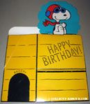 Flying Ace 'Happy Birthday' doghouse shaped gift box