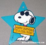 Snoopy Joe Cool 'Happy Birthday to a Cool Dude' Gift Tag
