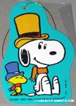 Snoopy & Woodstock wearing top hat and scarf Gift Tag