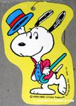 Snoopy dancing in suit and straw hat Gift Tag