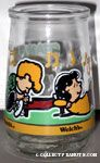 Schroeder & Lucy at Piano Jelly Jar Glass