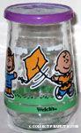 Charlie Brown Flying Kite Jelly Jar Glass