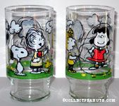 Peanuts skipping rope glass