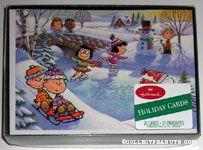 Peanuts Gang winter activities 'Happy Holidays' Holiday Cards