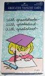Sally writing wearing graduation cap Thank you Cards