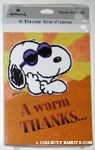 Joe Cool 'A Warm Thanks' Note Cards
