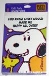 Snoopy & Woodstock 'Do you know what would make me happy all over?' Party Invitations