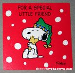 Snoopy hugging Woodstock gift tag