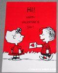Linus giving Sally card Valentine Card