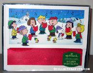 Peanuts Gang Caroling Christmas Cards