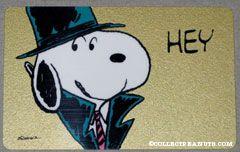 Snoopy in hat and trenchcoat 'Hey Du Siehst Phantastisch aus!' German Wallet Greeting Card