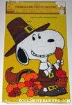 Snoopy Pilgrim Thanksgiving Puzzle Greeting Card