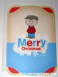 Vintage Charlie Brown in winter apparel 'Merry Christmas' Card