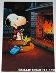 Snoopy & Woodstock roasting Marshmallows Greeting Card