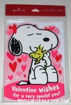 Snoopy hugging Woodstock 'Valentine Wishes' Greeting Cards