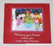 A Charlie Brown Christmas lenticular Christmas Card