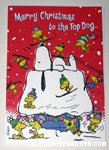 Snoopy Ski Hill with Woodstocks Christmas Card