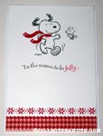 Snoopy & Woodstock dancing Christmas Card