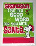 Snoopy & Woodstock 'Grandson' Christmas Card