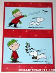 Snoopy & Charlie Brown throwing stick Christmas Card
