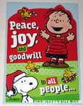 Snoopy, Woodstock and Linus Christmas Card