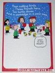 Peanuts gang caroling Christmas Card