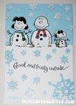 Peanuts gang snow people Christmas Card