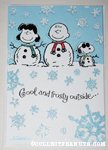 Peanuts gang snow people Christmas Card
