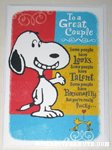 Snoopy & Woodstocks 'Great Couple' Anniversary Greeting Card