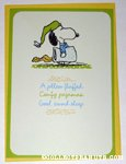Snoopy in Pajamas Get Well Soon Greeting Card