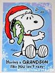 Snoopy 'Grandson' Christmas Card