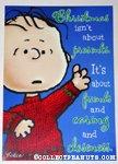 Linus 'Presents' Christmas Card