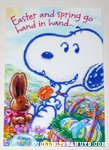 Snoopy Easter Greeting Card