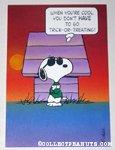 Snoopy Joe Cool Halloween Greeting Card